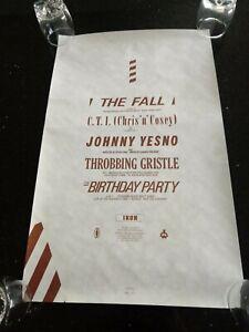 FACTORY RECORDS IKON POSTER THROBBING GRISTLE THE FALL BIRTHDAY PARTY HACIENDA