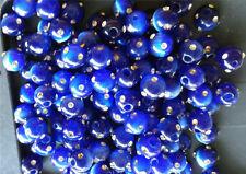 NEW! 8mm Cats Eye Fiber Optic FIREBALL Beads - COBALT BLUE - 5 BEADS
