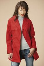 NEW LADIES RED TRENCH COAT SIZE 12 FREE P&P