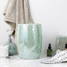 Bathroom Accessory Glass Mosaic Cleaning Decorative Wastebasket/Trash Can