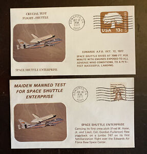 Space Shuttle Cover Lot Of 4 1976/77. 121-31