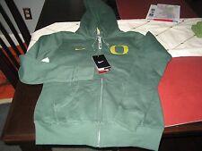 WOMENS NIKE Oregon Ducks GREEN Zip Up Hoody Sweatshirt Size M MEDIUM NWT $70