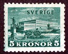 Sweden  #229 5KR Dark Green Royal Palace At Stockholm,