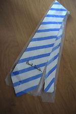 "Paul Smith BLUE TIE ""MAINLINE"" Pale Blue 10mm Stripe 8cm Tie Made in Italy"
