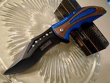 "Tac-Force Assisted Open Blue Copper Recurve Pocket Knife TF-931BL 8"" Open New"