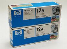 HP 12A Q2612A Black Toner Cartridge LaserJet 1010 3015 3050 Genuine NEW LOT 2