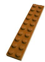 Lego 10 Stück Platte in dunkelorange (dark orange)  2x10 Platten Neu City 3832