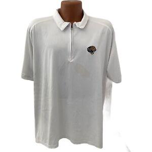 Reebok NFL  Jacksonville  jaguars polo golf Shirt Size L White Satin play dry