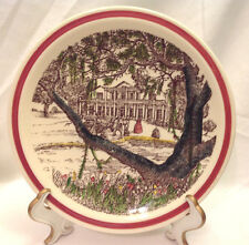"""VERNON KILN BITS OF THE OLD SOUTH SOUTHERN MANSION COLLECTOR PLATE 8-1/2"""" EC"""