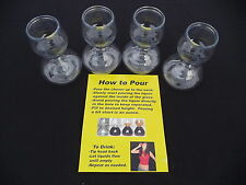 4 PLASTIC QUAFFER DOUBLE BUBBLE LAYERED JIGGER SHOT GLASS JAGER BOMB PARTY
