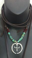 Naja  & Turquoise Pendant Necklace $425 Catalog Artist *