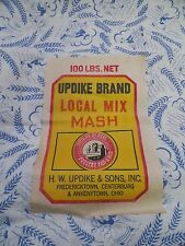 VTG 1940s~50~FEED SACK~BLUE~WHITE~FARM PEOPLE ~NOS~LABEL~MATERIAL~UPDIKE BRAND~