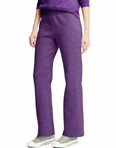Hanes ComfortSoft EcoSmart Women's Open Leg Fleece Sweatpants - 8 COLORS - S-2XL