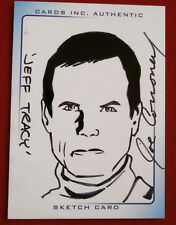 THUNDERBIRDS ARE GO! (2004 Movie) - Scarce Sketch Card, JEFF TRACY, JOE CORRONEY