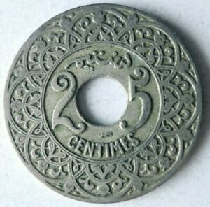 1924 MOROCCO 25 CENTIMES - AU - High Quality Coin - Lot #A9