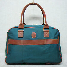 POLO Ralph Lauren -Vintage Duffle Bag Carry On Travel Bag - Green & Brown Canvas