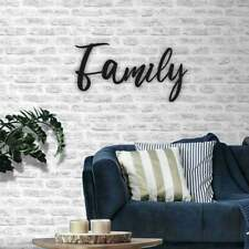 Large Family Wall Sign Home Decor Hanging Plaque Photograph Feature