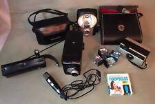 Lot Of 4 Vintage Cameras 2 Kodak Brownies Minolta ROKKOR Kodak Instamatic Misc