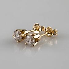 14k Oro Giallo 0.25 Carato H/I1 Orecchini a Lobo con Diamante