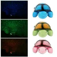 LED Turtle Night Light Star Sky Projector Lamp & Music Bedroom Kids Hot X0W4