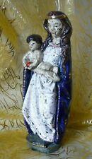 STATUE SAINTE VIERGE MARIE ET ENFANT JESUS EN FAIENCE VIRGIN LADY EARTHENWARE