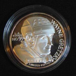 WAYNE GRETZKY KINGS .999 SILVER COIN 1999 NHL SCORING LEADER ROUND 1/18511 ERROR