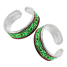 Plain Silver Indian Handmade Jewelry Sr25 925 Sterling Silver Solid Toe Ring