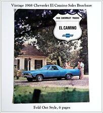Four Vintage Sales Brochures 1968, 1979 El Camino & 1979, 1984 Corvette - Unused