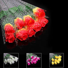 10 PCS Artificial Flower Individual Rose With Wrapping Wedding Party Decoration