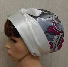 Satin head scarf sleeping bonnet silky head covering head wrap hair scarf cap