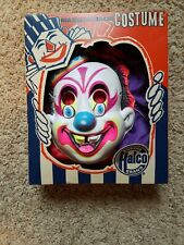 Vintage Ben Cooper Clown Costume with Mask Original Box Size Small 4-6