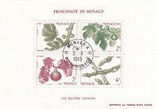 282498 / Flora gestempelt Block Monaco