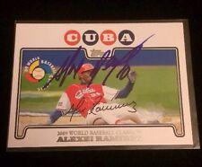 ALEXEI RAMIREZ 2010 TOPPS Autographed Signed AUTO Baseball Card WBC2 CUBA WBC