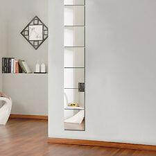 9 Pcs/set Squre Mirror Tile Wall Stickers Mosaic Room Makeup Decor 3D Adh