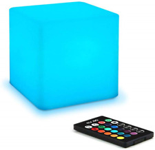 Mr.Go 10cm LED Night Light for Kids, Mood Light Cube Lamp with Remote Control, 8