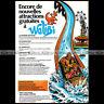 WALIBI (WAVRE) LA RIVIERE SAUVAGE Parc d'attraction 1978 Pub Publicité Ad #A1546