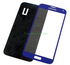 Cristal pantalla Front Glass original Samsung Galaxy S5 I9600 azul claro