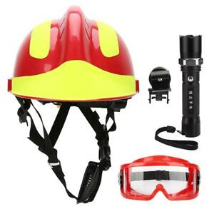 Safety Helmets Fire Fighter Protection Hat Hard Cap Anti-Impact With Lamp
