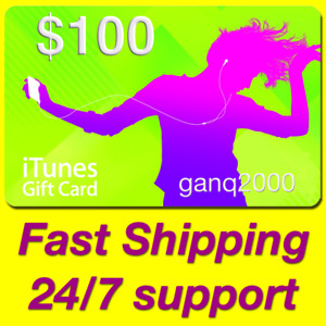 $100 APPLE US iTunes GIFT CARD voucher certificate FAST (USA iTunes Store USD)