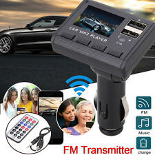 Car MP3 Player FM Transmitter Modulator 2 USB Charging Ports MMC With Remote UK