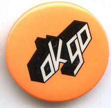 """Ok Go promo Button 1"""" diameter logo Pin badge"""