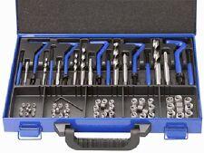 "Industrial 120Pce 1/4""-1/2"" UNF Helicoil Thread Repair Kit W/HSS Tap & Drill Set"