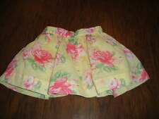 JANIE AND JACK 3-6 GORGEOUS  YELLOW FLORAL SKIRT 2012 '12 LINE