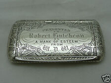 Tabatière argent massif XIXeme Victorian Snuff box sterling solid silver 19th
