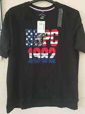 Beverly Hills Polo Club mens T-Shirt G/C M/M Printed BHPC black & red polo shirt