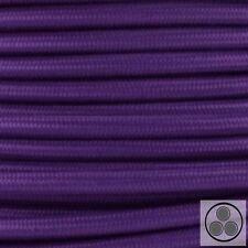 Textilkabel Stoffkabel Lampen-Kabel Stromkabel Elektrokabe Lila 3 adrig