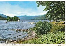 Scotland Postcard - Loch Earn from St Fillans - Perthshire     SM80