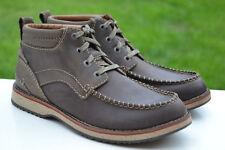 Clarks Mens Walking Hiking Boots MAHALE MID Olive Nubuck UK 9 / 43