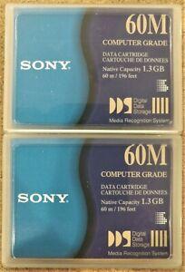 Sony 120P catridge (4.0GB) and two Sony DG60M Data Cartridges (1.3GB)