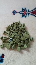 new lego 1x1 army green slope brick roof architecture x200 lot.